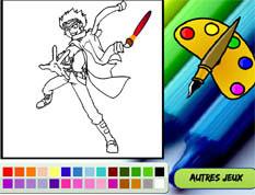 coloriage de Metal Master Ryuga