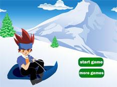 gingka sur un traineau a neige